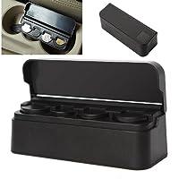 Itimo universale auto portamonete nero plastica auto monete di stoccaggio box contenitore porta accessori auto Orginazer