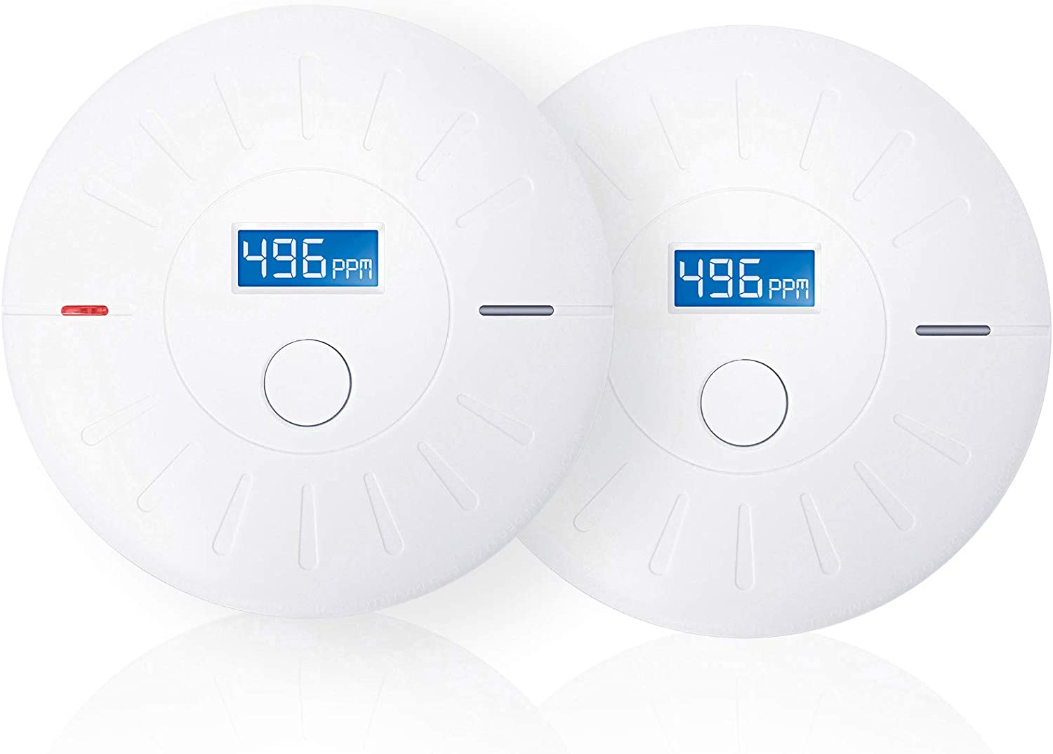 2 Pack 10 Year Battery Operated Smoke and Carbon Monoxide Detector, Portable Fire Co Alarm for Home and Kitchen
