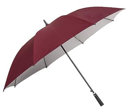 2001e58d1 Sun Maroon Golf Big Size UV Protective Long & Non-Foldable Umbrella:  Amazon.in: Bags, Wallets & Luggage