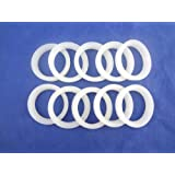 MISOL 10 pcs of white silicon sealing ring sealing loop for vacuum tube 58mm, for solar water heater