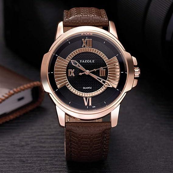 HWCOO Hermoso Relojes de Pulsera 386 Reloj de Cuarzo YAZOLE Reloj de Oro Rosa Reloj de