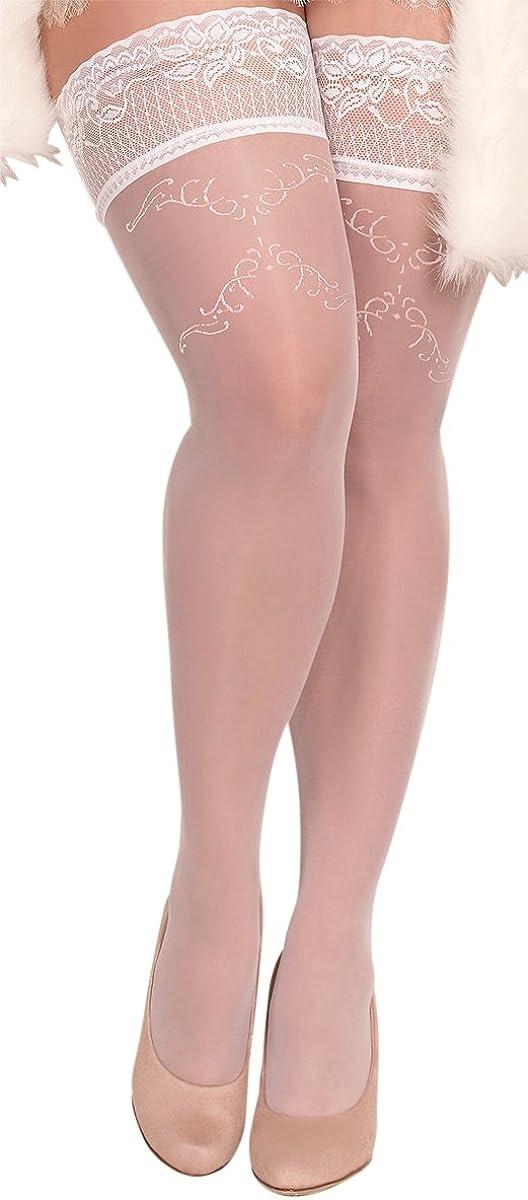XL taglie grandi Calze autoreggenti da donna bianche XXL