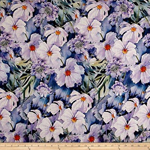 TELIO Digital Linen Prints Floral Lavender Fabric by The -
