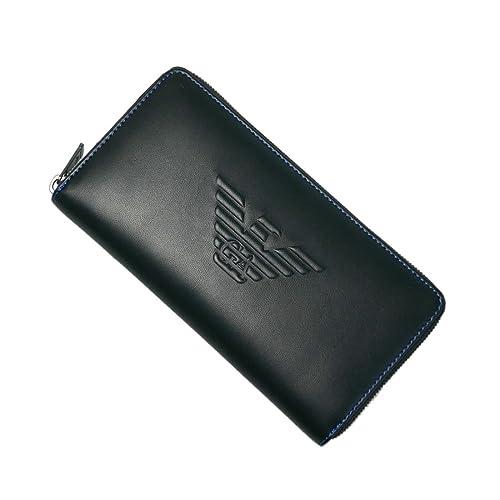 Emporio Armani monedero cartera bifold de hombre nuevo negro: Amazon.es: Zapatos y complementos