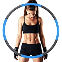 Sanni Exercise Hoops for Adults,Weighted Hula Hoop for Exercise,8 Section Detachable Stainless Steel Fitness Hoop with…