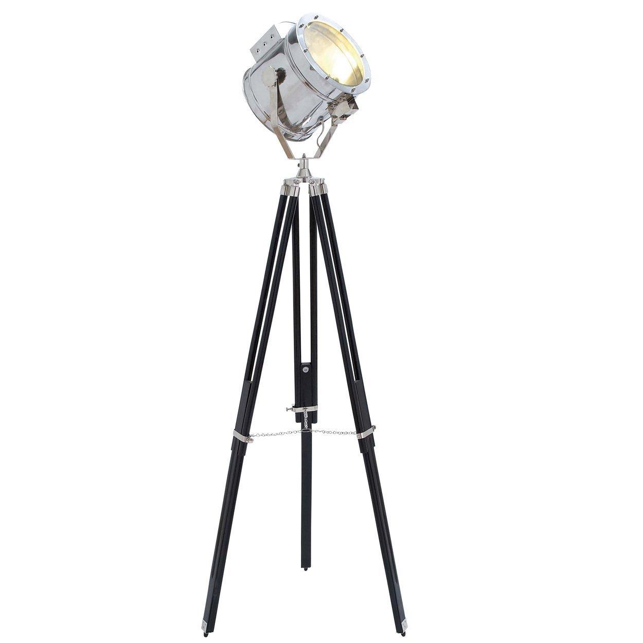 Movie Studios Floor Prop Spotlight with Black Tripod Lamp