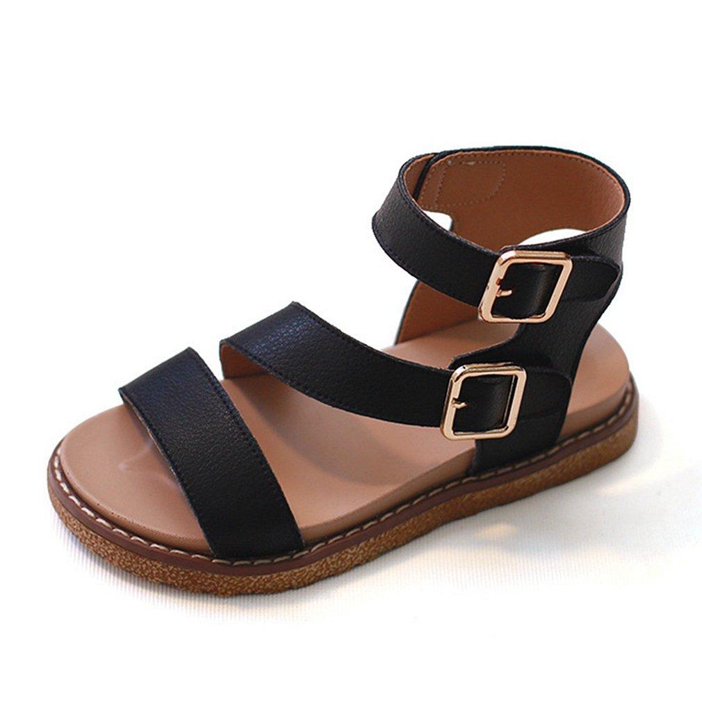 CYBLING Girl's Strappy Gladiator Flat Sandal Open Toe Summer Shoes for Girl (Toddler/Little Kid)