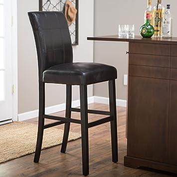 amazon com bistro counter bar stools 34 inch black height swivel