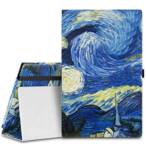 MoKo Case for Fire HD 10 - Slim Folding Cover with Auto Wake / Sleep for Amazon Kindle Fire HD 10.1 Inch Display Tablet (2015 Release Only), Starry Night (Tablet Kindle 10 Inch)