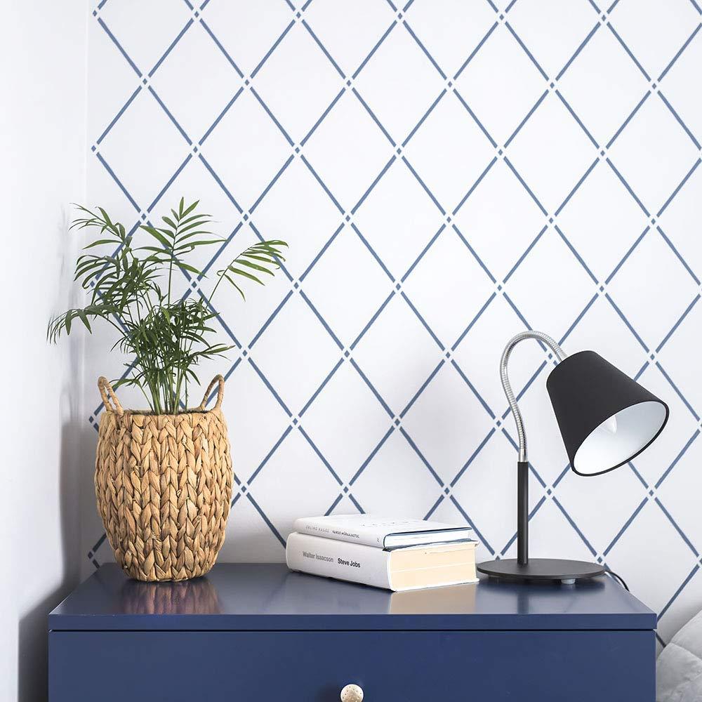 "Trellis Light Large Wall Stencil for Painting XL Size 21/""x32/"" Reusable Geometric Rhomb Stencil"