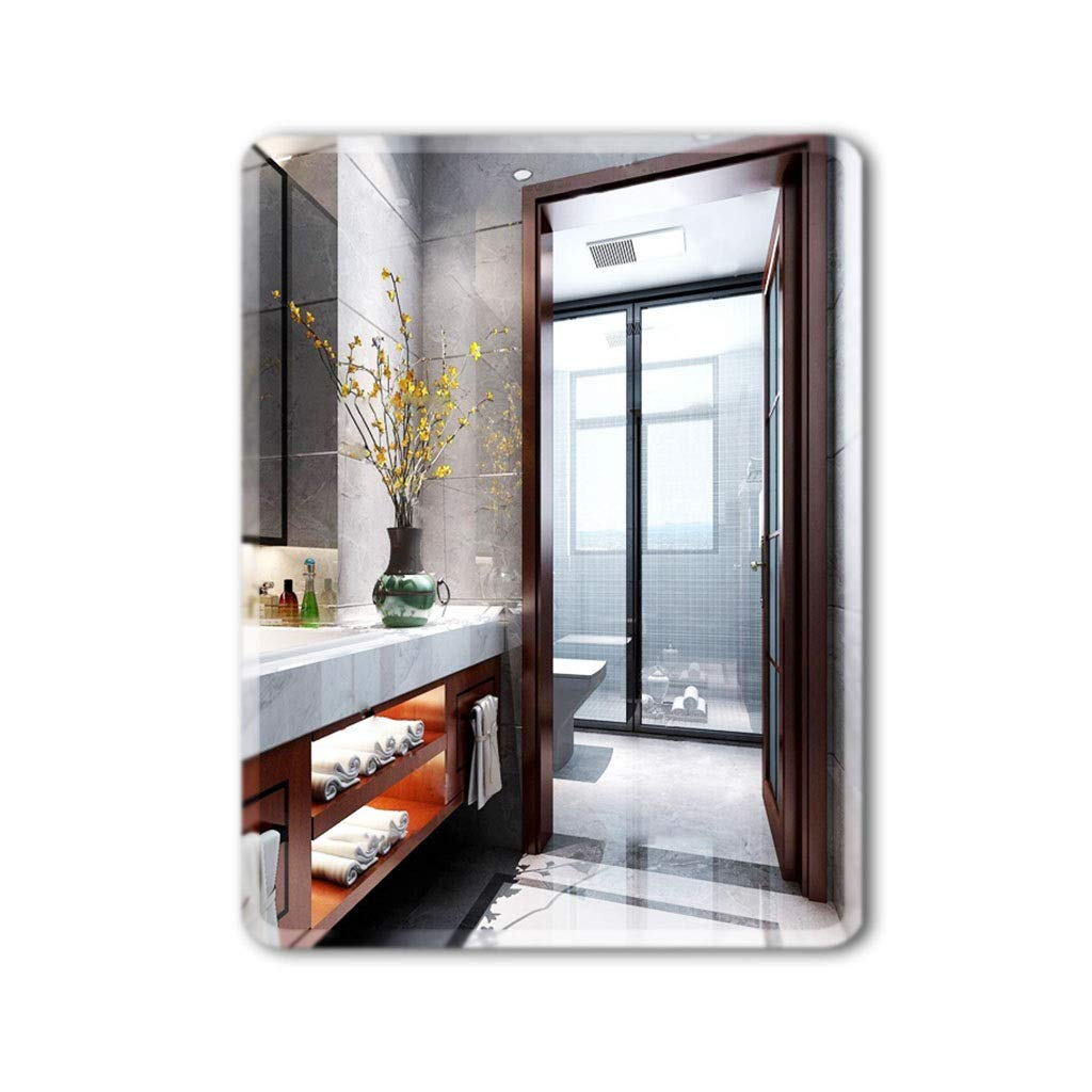 Silver 35453cm Wall-Mounted Mirrors Mirror Simple Paste Bathroom Mirror Frameless Bathroom Mirror Bathroom Mirror Wall Mount Mirror (color   Silver, Size   35  45  3cm)