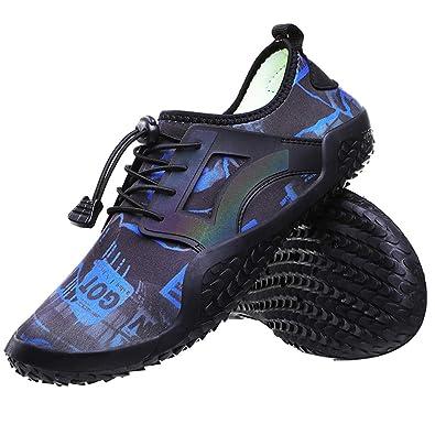eb119edffaa Mens Womens Water Shoes Quick Dry Barefoot Lightweight Slip On Wide Feet  Toe Aqua Socks for