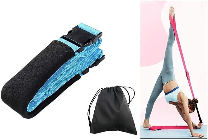OhLt-j Cinturón con correa de yoga, bandas elásticas for ejercicios de estiramiento, hechas con algodón suave y duradero, ideal for sostener poses, fisioterapia, pilates, aumentar la flexibilidad, azu: Amazon.es: Hogar