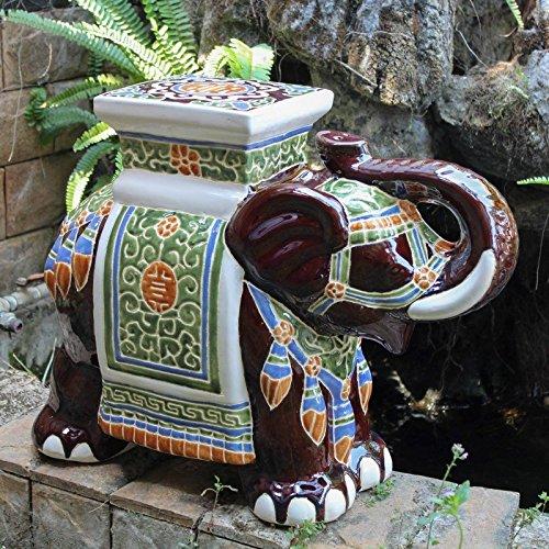 International Caravan VH016A-C-LG-016-IC Furniture Piece Large Porcelain Elephant ()