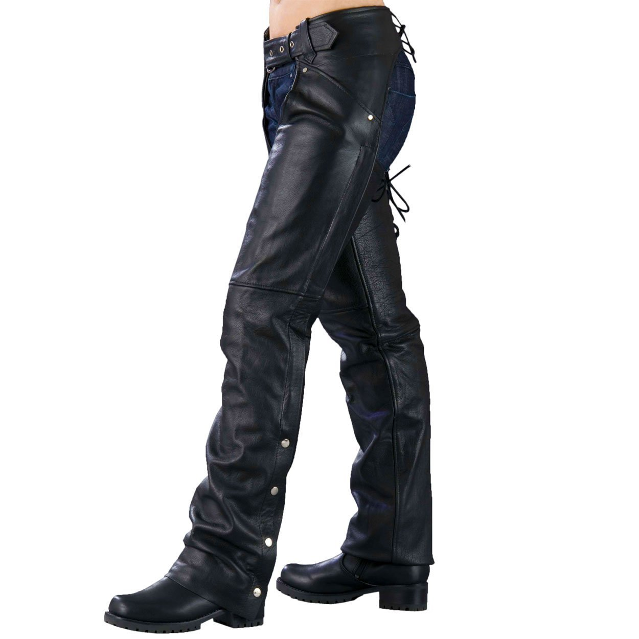 Ladies Biker Chaps with LACES ON THE BACK by Milwaukee Leather
