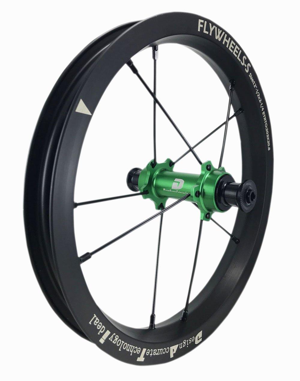DATI 12インチ S7X-W Alloy レース レベル. 低抵抗.スムーズ.バランスバイク Kids Balance Bike Bicycle Super light 子供自転車ホイール B07DKCP73K Strider :95*8MM|緑 緑 Strider :95*8MM