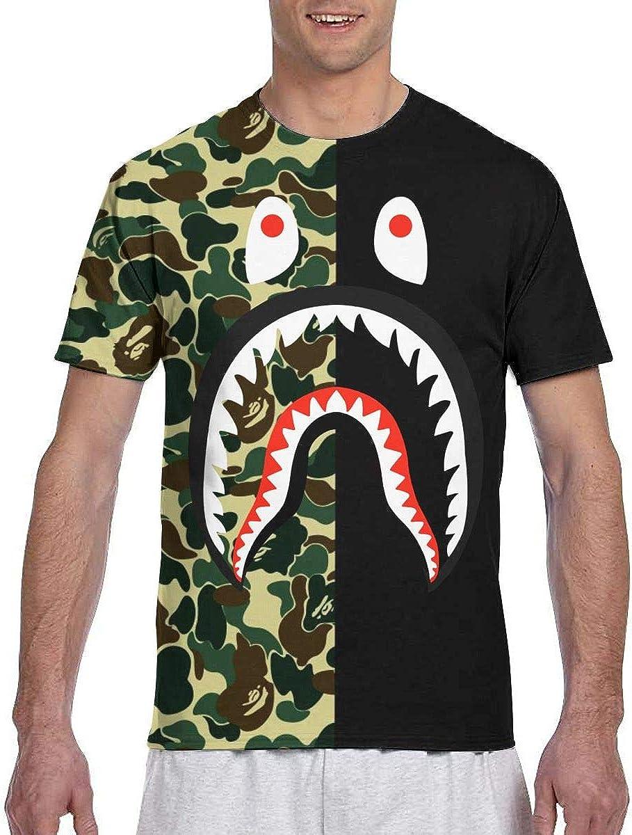 Bape Camo Blood Shark Men's T-Shirt Adult Unisex Novelty Tops Tee