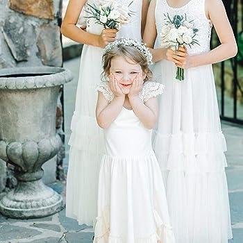 Vestido Blanco de niña de Las Flores Vestido Blanco de niña para ...