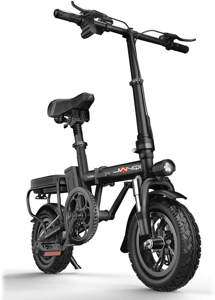 折りたたみ式電動自転車-400wモーター、シティバイク最高速度25 Km/H、3つの作業モード,黒 黒