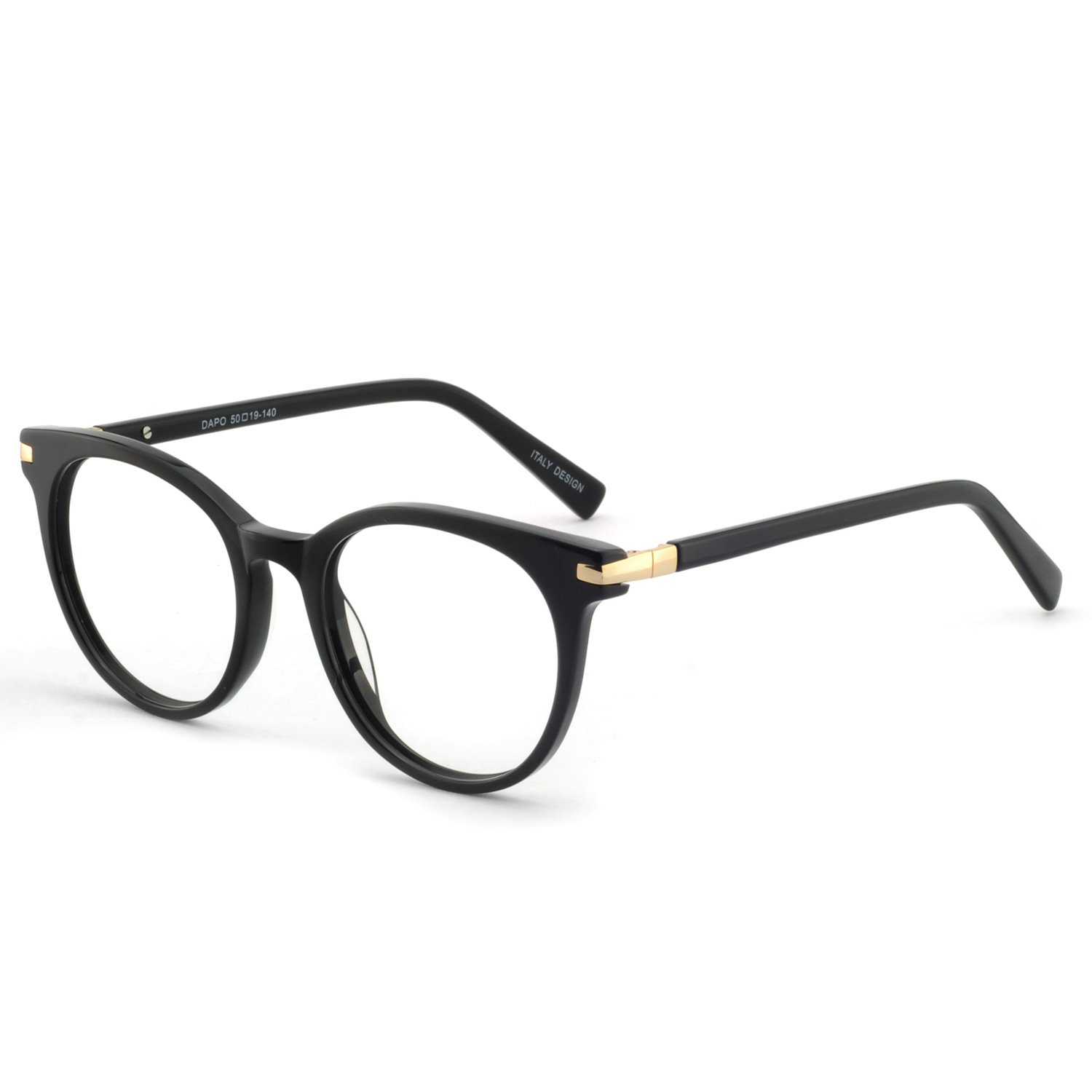 Black gold OCCI bluee Light Blocking Glasses for Computer Use Anti Eyestrain UV Filter Lens Women Frame Eyeglasses