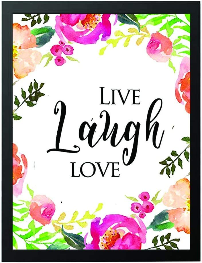 Love Grows Here Wall art decor-beautiful lovely quote - Bedroom wall decor idea-wedding gift- Home decor wall art-love sign-unique gifts- wall art Floral Print- Happy lovely Quotes - Valentines# WP-11