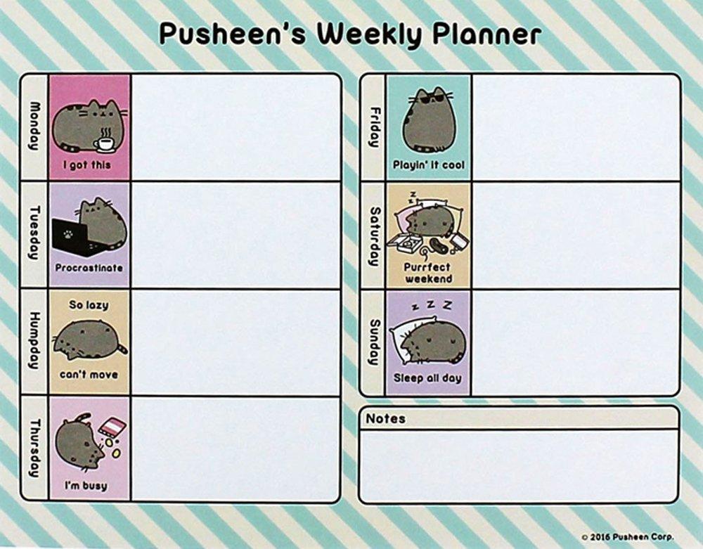 Calendar Planner For Laptop : Pusheen weekley planner ebay