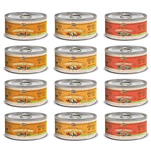 Merrick Classic Recipe Canned Dog Food Variety Pack - Thanksgiving Dinner, Grammy's Pot Pie, and Cowboy Cookout (12 Total, 3.2 Oz Each)