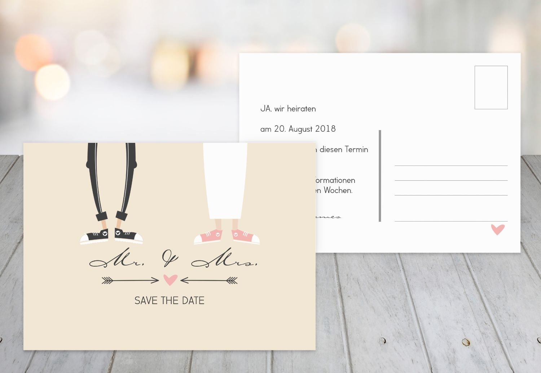 Save-the-Date Pärchen, 30 Karten, Weiß B07B6NMYQZ | Billig  Billig  Billig  | Hochwertig  | Modern Und Elegant  2a2f74