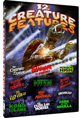 (Monster Movie Pack - 12 Creature Features: Bride of the Gorilla - The Wasp Woman - Gamera the Invincible - Kong Island + 8 more!)