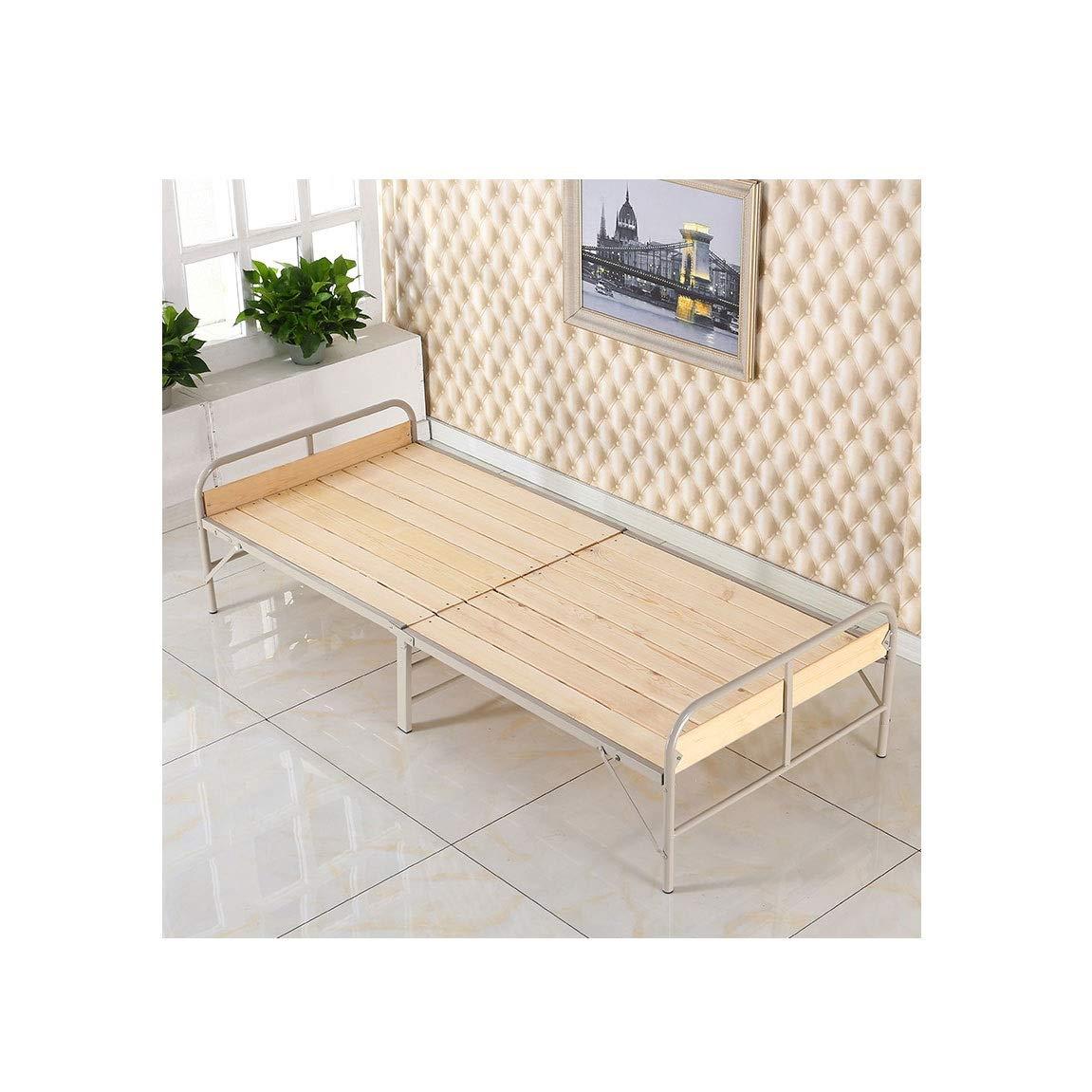 折りたたみベッドシングルベッド大人用シンプルベッドランチタイムベッド木製ベッドナップベッドマーチングベッド (色 : ベージュ) B07RJJLGRS ベージュ
