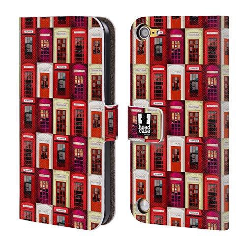 Head Case Designs Pattern Telefono I Love London Cover a portafoglio in pelle per iPod Touch 5th Gen / 6th Gen