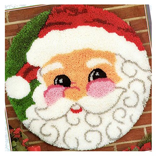 Kit Classics Hook Latch (BYT Collections 14 Model Christmas Latch Hook Kit Rug Christmas137 21 by 21 inch (1 Pack))