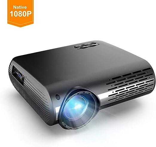 Ai LIFE Proyector de 16000 lúmenes Proyector de Video Full HD 1080p (1920 x 1080) portátil Compatible con Laptop, Smart Phone Entradas duales HD y USB para películas, Deportes, Juegos: Amazon.es: Hogar