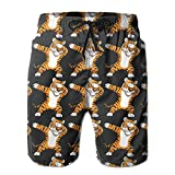 titanium oil dome - Dabbing Tiger Funny DAB Animals Men Swim Trunk Beach Shorts Boardshorts Pants Pocket