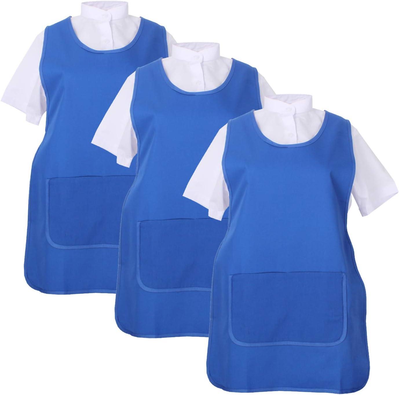 Granate MISEMIYA Delantal Limpieza Uniforme Laboral CLINICA M/ÉDICOS Limpieza Veterinaria Sanitarios HOSTELER/ÍA- Ref.868 Pack* 3 Pcs L Pack*3 Pcs