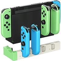 ElecGear Laddningsdocka för Nintendo Switch Joy-Con Controller, Quad USB Laddningsstativ Dockningsstation med LED…