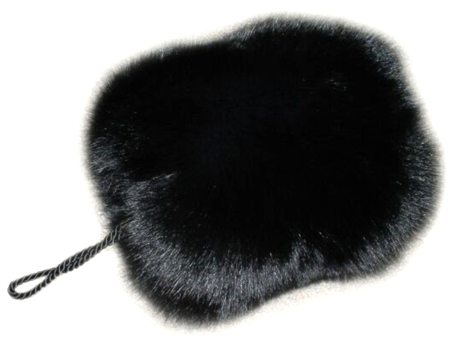 Top Mink Barrel Hand Muff in Black Color by FursNewYork