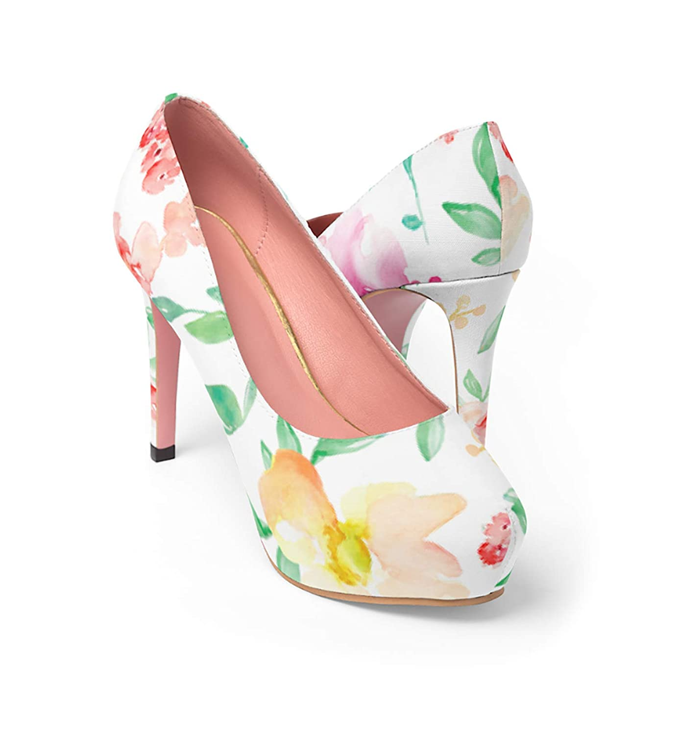 Amazon Com Floral Easter Shoes Floral Wedding Shoes Pink Heels