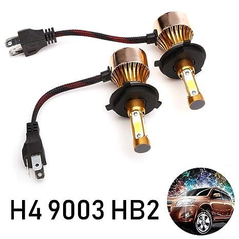 Amazon Com Led H4 9003 Hb2 Headlights Bulbs For High Low Beam 6000k