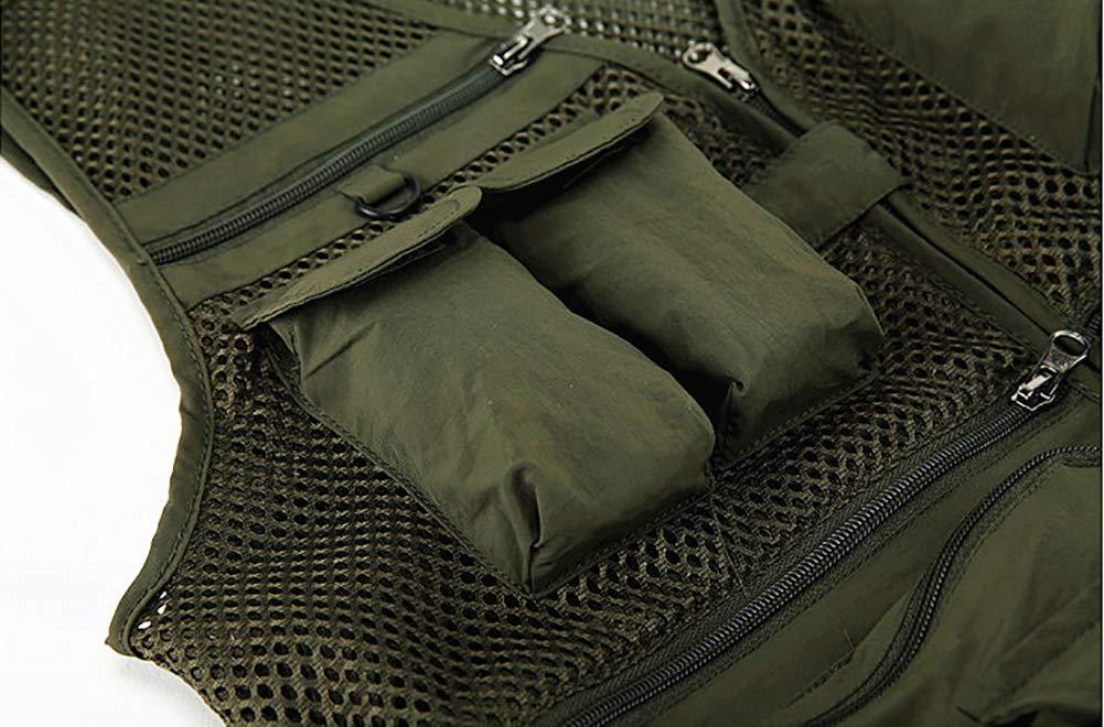 Daoba Gilet Fotografo Maglia Multi Tasche Giacca Uomo Caccia Pesca Campeggio Trekking