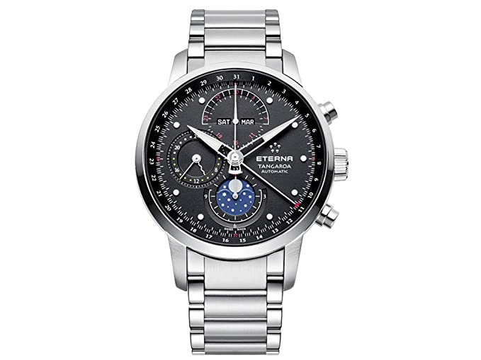 Reloj Automático Eterna Tangaroa New Moonphase, ETA Valjoux 7751, Cronógrafo: Amazon.es: Relojes