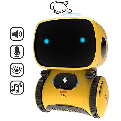 GILOBABY Smart Roboter Spielzeug für Kinder?Touch funktions Roboter mit Spracher kennungs Funktion, Elektronisches Roboter Sp