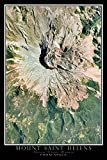 Terra Prints Mount Saint Helens National Monument Washington Satellite Poster Map M 16 x 24 inch