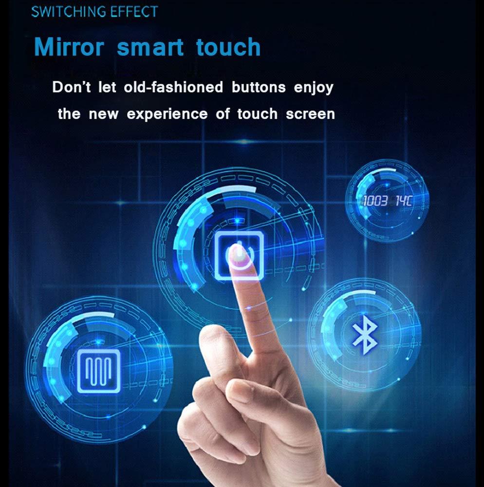 Dimensioni : 600mm*800mm HELIn Specchio Luce LED con Illuminazione Interruttore per Il Bagno Camera da Letto Specchiera Anti-Appannamento Frameless
