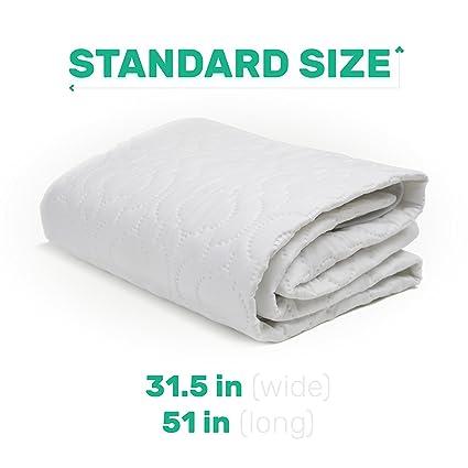 Protector de colchón impermeable para cuna Pad con goma de borrar – fácil de poner y