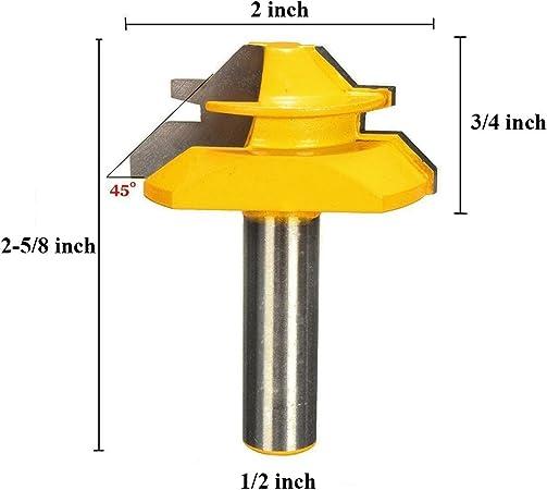 1//2 /'/' Shank Lock Mitre 45 Grad Klebefuge Fräser Werkzeuge 1//2 2 3 4mm