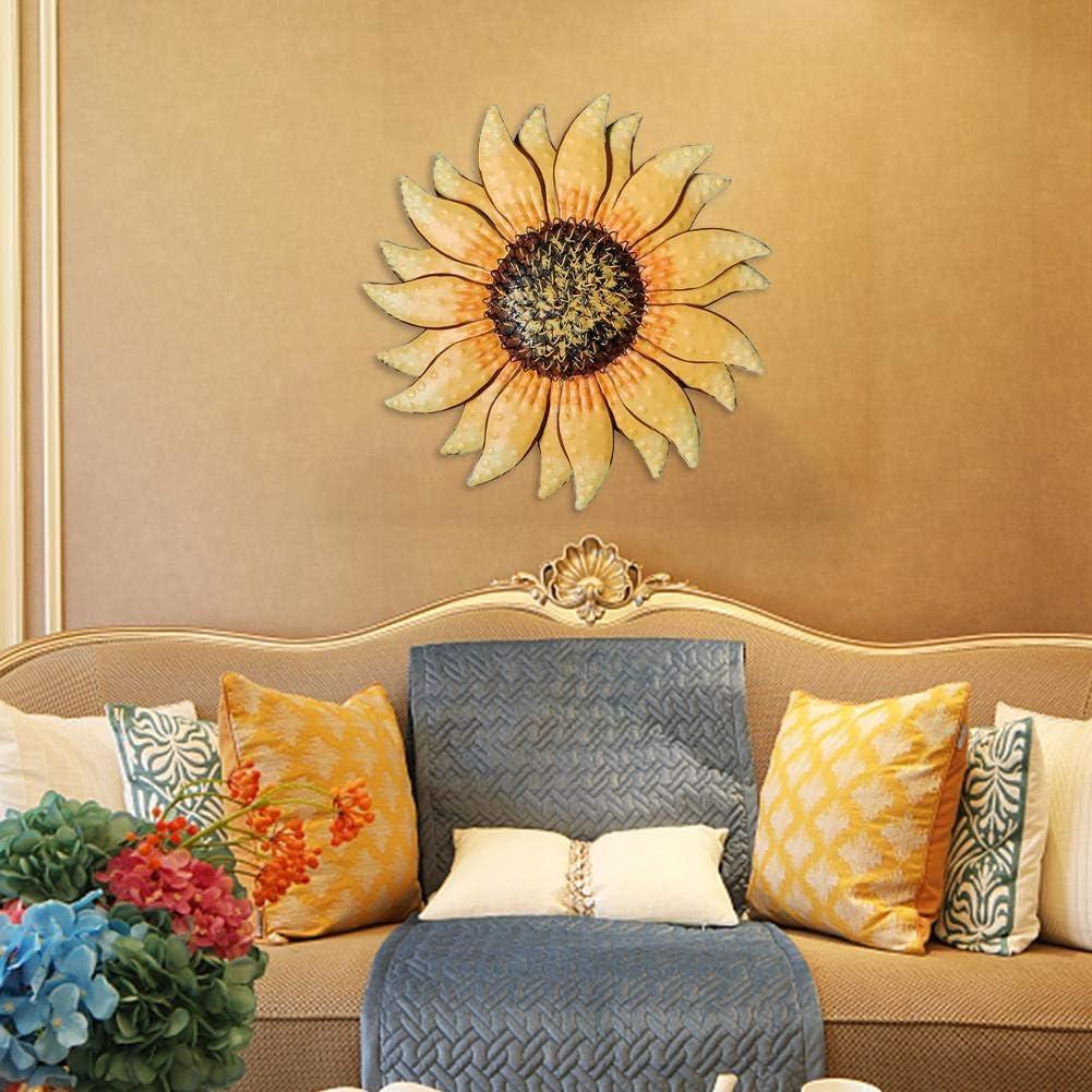 30 cm decorazione da appendere al muro con rivestimento avanzato Decorazione artistica in metallo con girasole Bulrusely