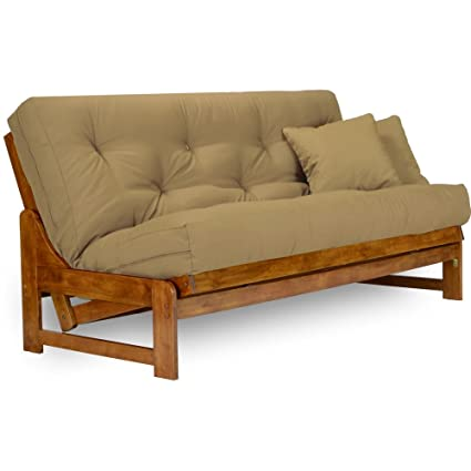 futon futons log the set home knotty pine vienna rustic