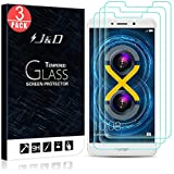 Honor 6X Screen Protector, J&D Glass Screen Protector [Tempered Glass] HD Clear Ballistic Glass Screen Protector for Huawei Honor 6X - Protect Screen from Drop and Scratch (3 Packs)