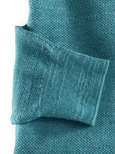 Walbusch Herren Pullover Blau einfarbig Gr. 48